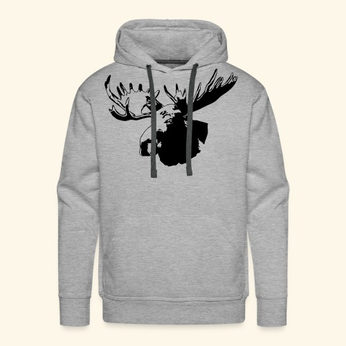 elch - elk - moose - jagd - jäger - Männer Premium Hoodie