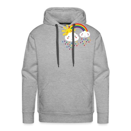 Regenbogen bunte Tropfen - Männer Premium Hoodie