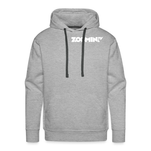 4658 2CZoomin White logo - Men's Premium Hoodie