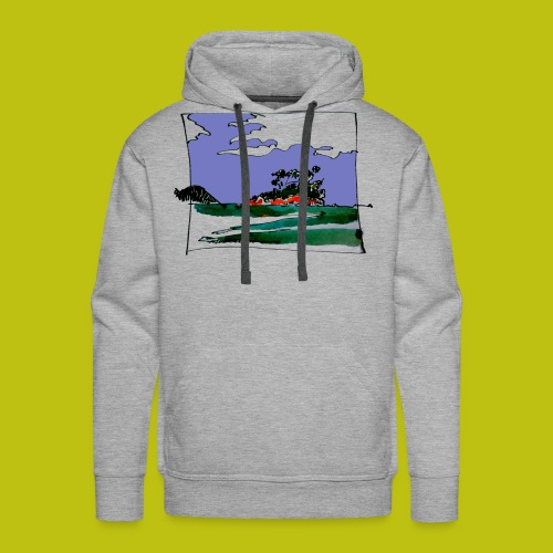 isla - Sudadera con capucha premium para hombre