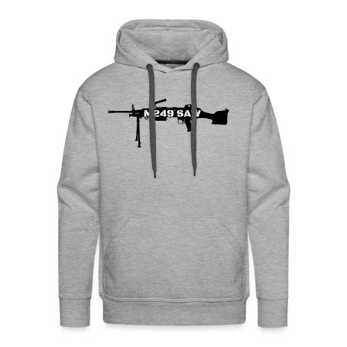 M249 SAW light machinegun design - Mannen Premium hoodie
