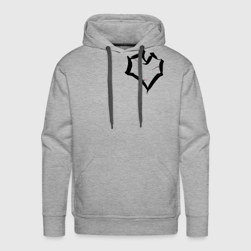 cracked heart - Mannen Premium hoodie