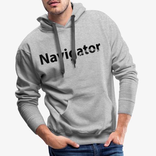 Navigator zwart merch - Mannen Premium hoodie