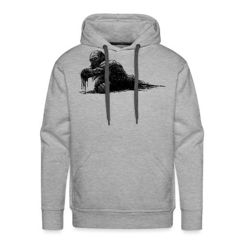 Splatter Zombie - Felpa con cappuccio premium da uomo