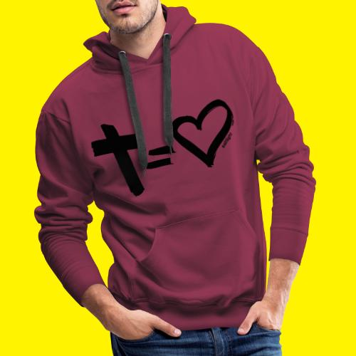 Cross = Heart BLACK - Men's Premium Hoodie
