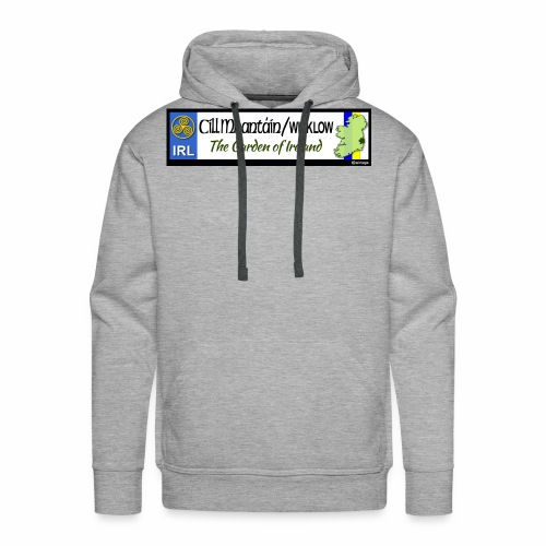 WICKLOW, IRELAND: licence plate tag style decal - Men's Premium Hoodie