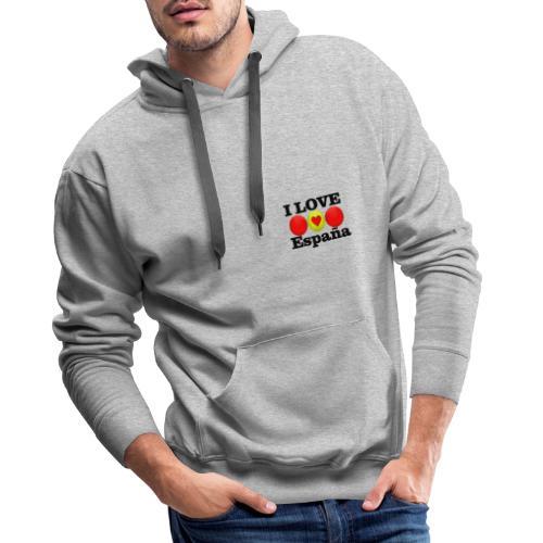 yo amo a España I love España - Sudadera con capucha premium para hombre