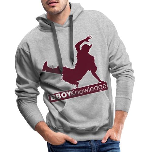 Bboy knowledge Logo Multi color,make your choice - Sweat-shirt à capuche Premium pour hommes