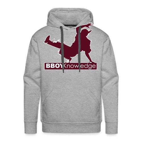 """Bboy knowledge Logo """"Multi color,make your choice"""" - Sweat-shirt à capuche Premium pour hommes"""