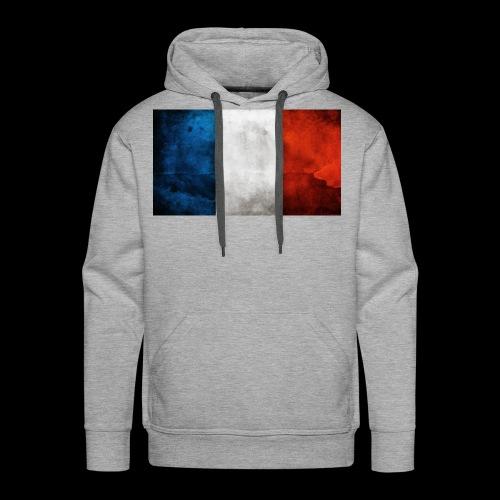 DRAPEAU BLEU BLANC ROUGE - Sweat-shirt à capuche Premium pour hommes