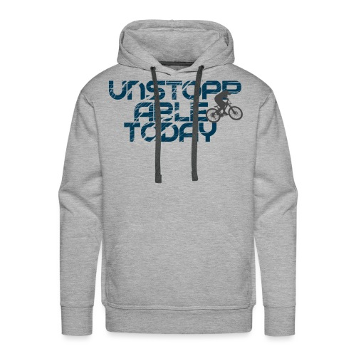 unstoppable today downhill - Männer Premium Hoodie