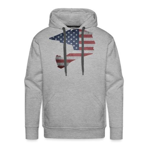 DOWNHILL HELM USA STYLE - Männer Premium Hoodie