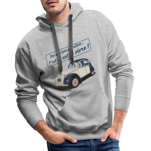 2CV Art de Vivre II - Sweat-shirt à capuche Premium pour hommes