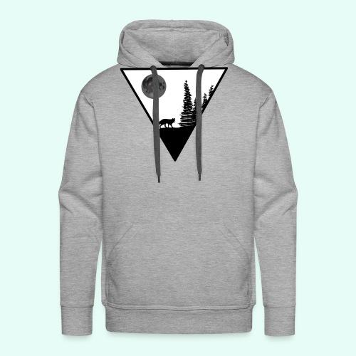 Pleine lune avec renard - Sweat-shirt à capuche Premium pour hommes