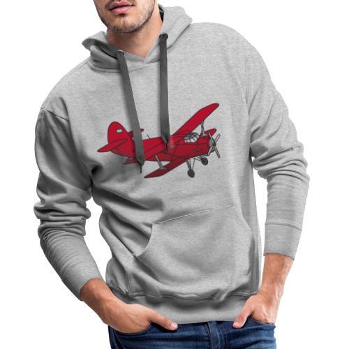 Doppeldecker Flieger rot - Männer Premium Hoodie