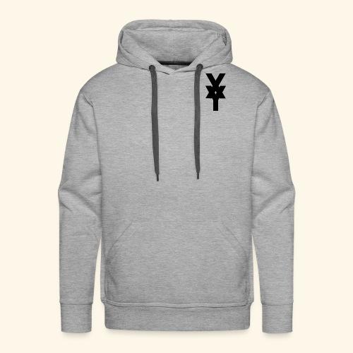 XY Logo In Black - Men's Premium Hoodie