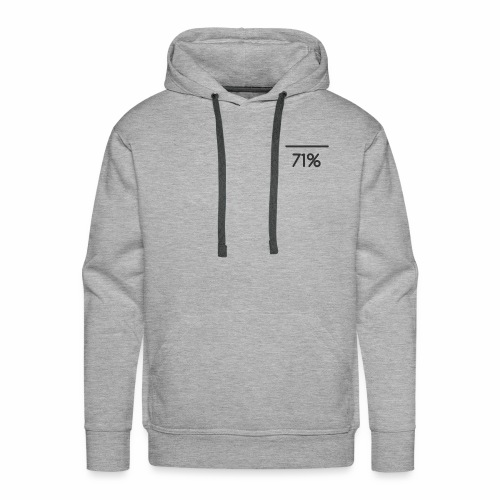 71 PERCENT logo - Men's Premium Hoodie
