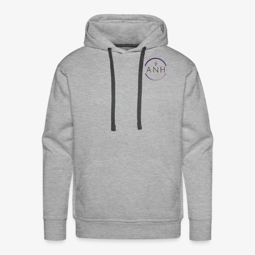 ANH purple and black logo - Men's Premium Hoodie