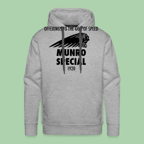 burt munro - Felpa con cappuccio premium da uomo