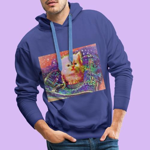 Gattino scintillante nella tasca dei jeans - Felpa con cappuccio premium da uomo
