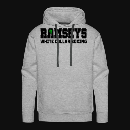 Ramseys White Collar Boxing Black Logo - Men's Premium Hoodie