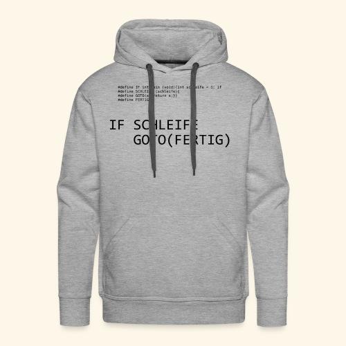 If-Schleife - Männer Premium Hoodie