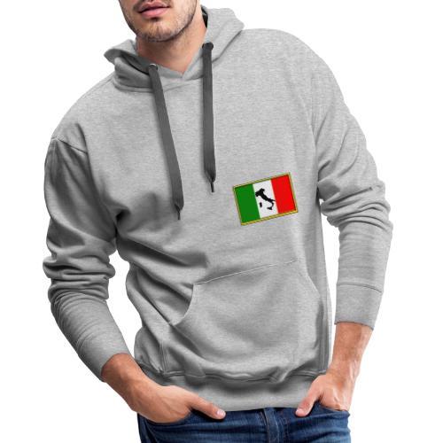 Bandiera Italiana2 - Felpa con cappuccio premium da uomo