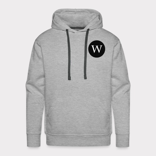 WHITE W CIRCLE - Men's Premium Hoodie