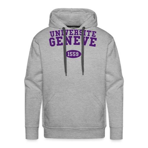 Université de Genève 1559 - Sweat-shirt à capuche Premium pour hommes