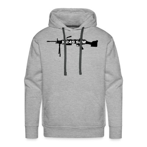 M249 SAW light machinegun design - Mannen Premium hoodie