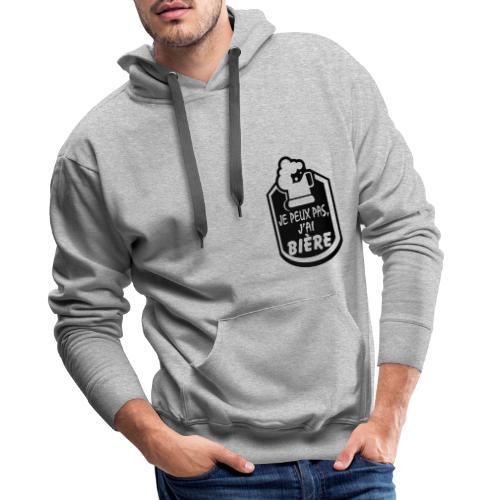 Je peux pas j'ai Bière - Sweat-shirt à capuche Premium pour hommes
