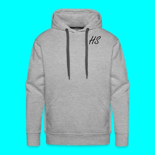 HS Hoodie, Navy Blue - Men's Premium Hoodie