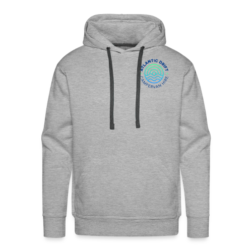 Atlantic Drift Logo (Blue) - Men's Premium Hoodie