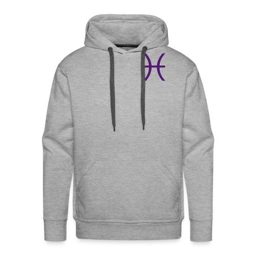 Pisces Zodiac Symbol - Men's Premium Hoodie