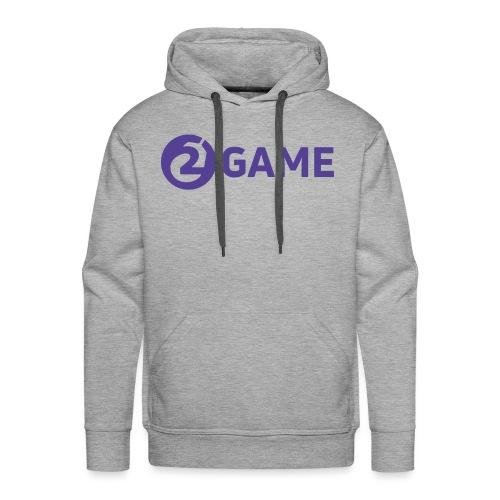 2Game Logo - Purple - Men's Premium Hoodie