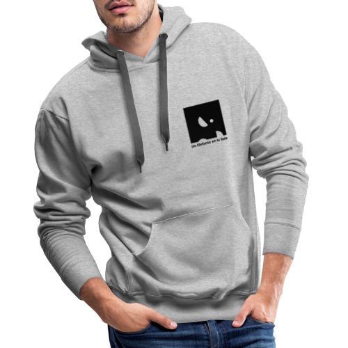 Logo Elefante Negro - Sudadera con capucha premium para hombre