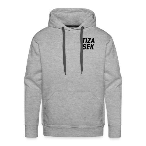 Lettré + logo noir - Sweat-shirt à capuche Premium pour hommes