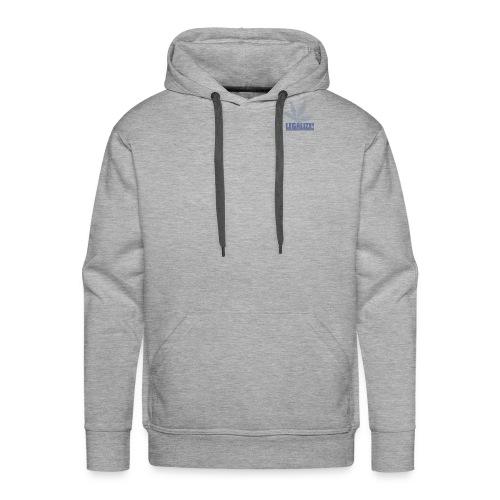 Hanfblatt-Raster (Aus Punkten) - Männer Premium Hoodie