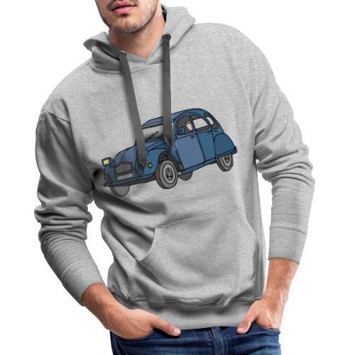 Blaue Ente 2CV - Männer Premium Hoodie