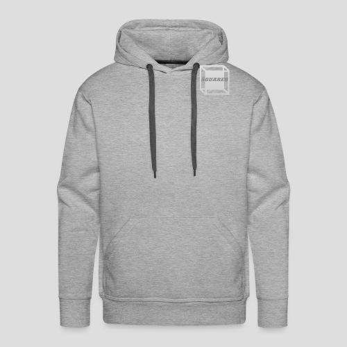 Squared Apparel Logo White / Gray - Men's Premium Hoodie