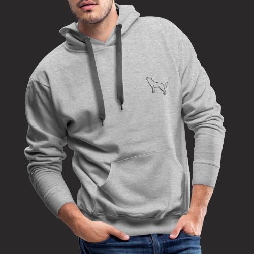 Wolf design - Sweat-shirt à capuche Premium pour hommes