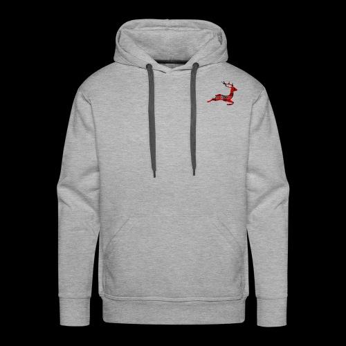 noël cerf écossais - Sweat-shirt à capuche Premium pour hommes