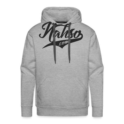 Black Nahso.com Design - Men's Premium Hoodie