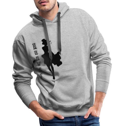 RunWay - Sweat-shirt à capuche Premium pour hommes