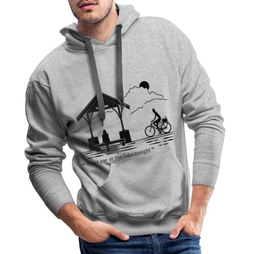 Meet me at annecy lake - Sweat-shirt à capuche Premium pour hommes