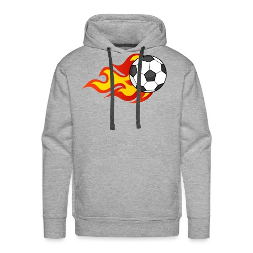 Flaming Football - Men's Premium Hoodie
