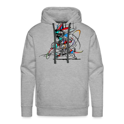 Ninja fighter Easter Bunny / Abstract - Men's Premium Hoodie