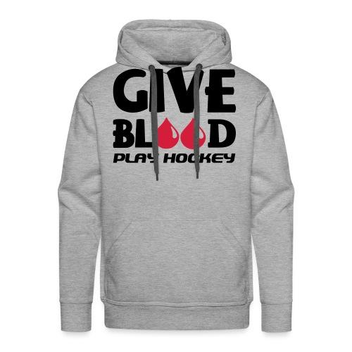 Give Blood Play Hockey (version 2) - Men's Premium Hoodie