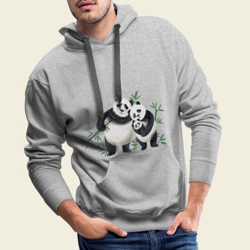 Pandafamilie Baby - Männer Premium Hoodie