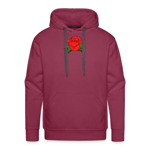 Rosa - Felpa con cappuccio premium da uomo